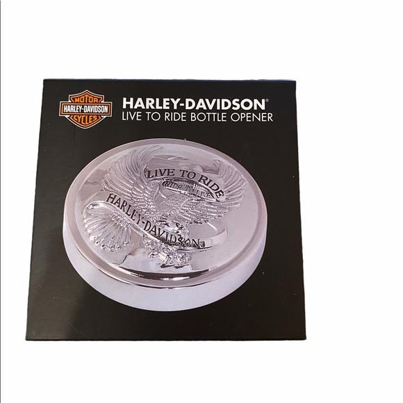 New Harley Davidson Live to Ride Bottle Opener